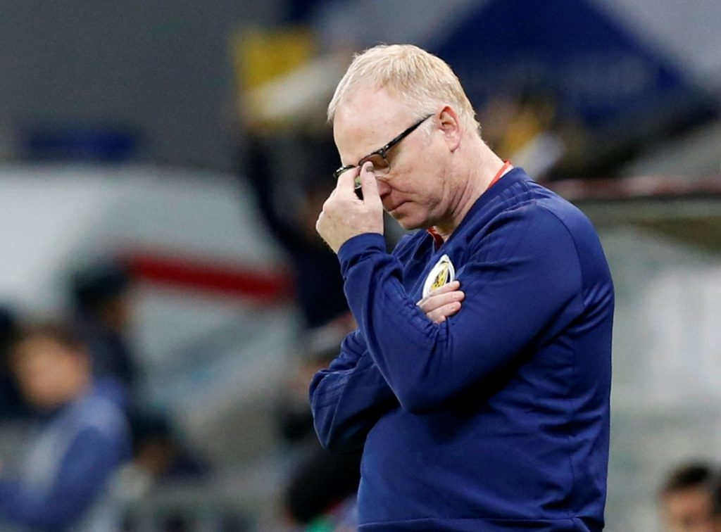 Alex McLeish is reportedly facing the sack after Scotland's disappointing start to their Euro 2020 qualification campaign.