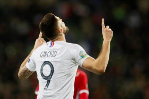 Chelsea striker Olivier Giroud has played down reports in the French press linking him with a switch to Ligue 1 side Lyon.