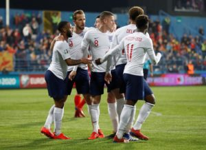 England stormed back from a goal behind to thrash Montenegro 5-1 in their Euro 2020 Group A qualification game in Podgorica.