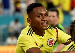 Rangers striker Alfredo Morelos made his first start for Colombia on Tuesday but lasted only 45 minutes.