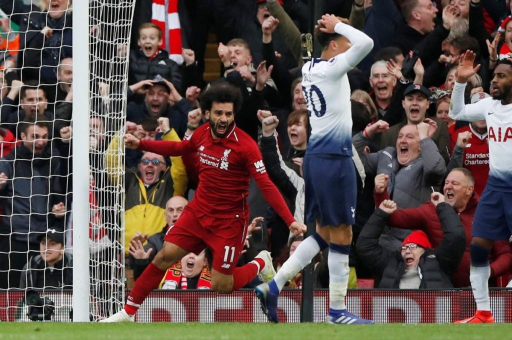 Toby Alderweireld's last-minute own goal helped Liverpool move back to the top of the Premier League after they beat Tottenham 2-1.