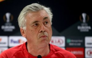 Napoli boss Carlo Ancelotti is considering a three-pronged strikeforce for Thursday's must-win Europa League cash with Arsenal.
