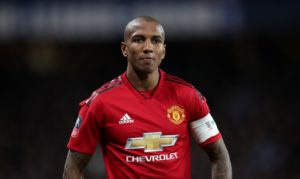 Ashley Young has become the latest footballer to be subjected to racist abuse on social media following Manchester United's Champions League exit at Barcelona.