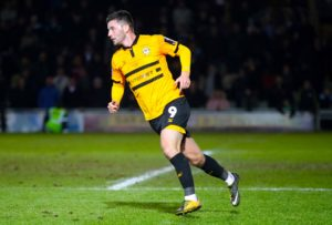 Padraig Amond could be pushing for a starting place when Newport take on Swindon.