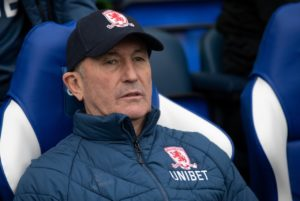 Tony Pulis has paid tribute to Middlesbrough's players for holding their nerve after a narrow 1-0 victory over Stoke earned a play-off spot once again.