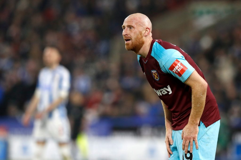 Bottom club Ipswich will again check on veteran defender James Collins ahead of the visit of Swansea.
