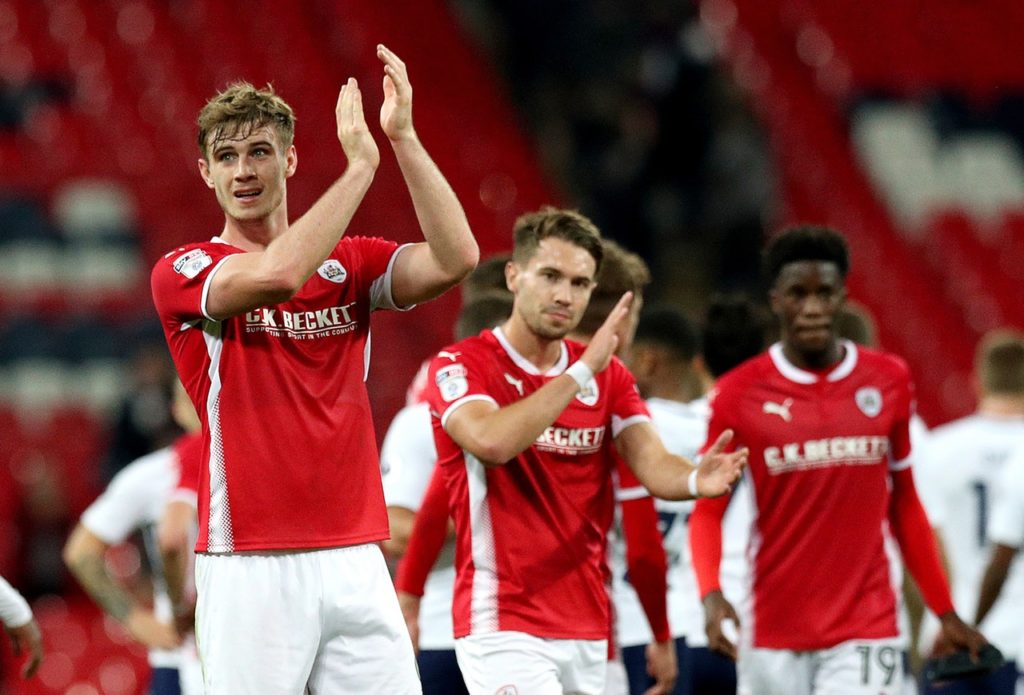 Barnsley will hope to have Liam Lindsay available for the visit of Shrewsbury.