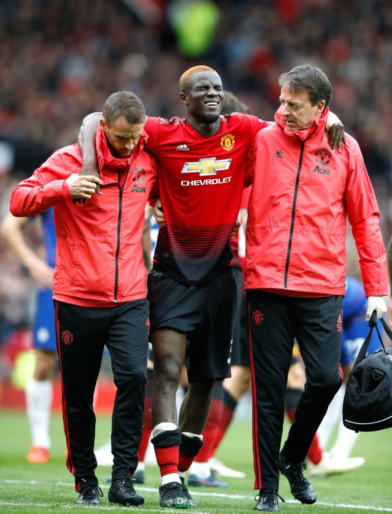 Manchester United defender Eric Bailly will miss the club's final two Premier League games and the African Nations Cup.