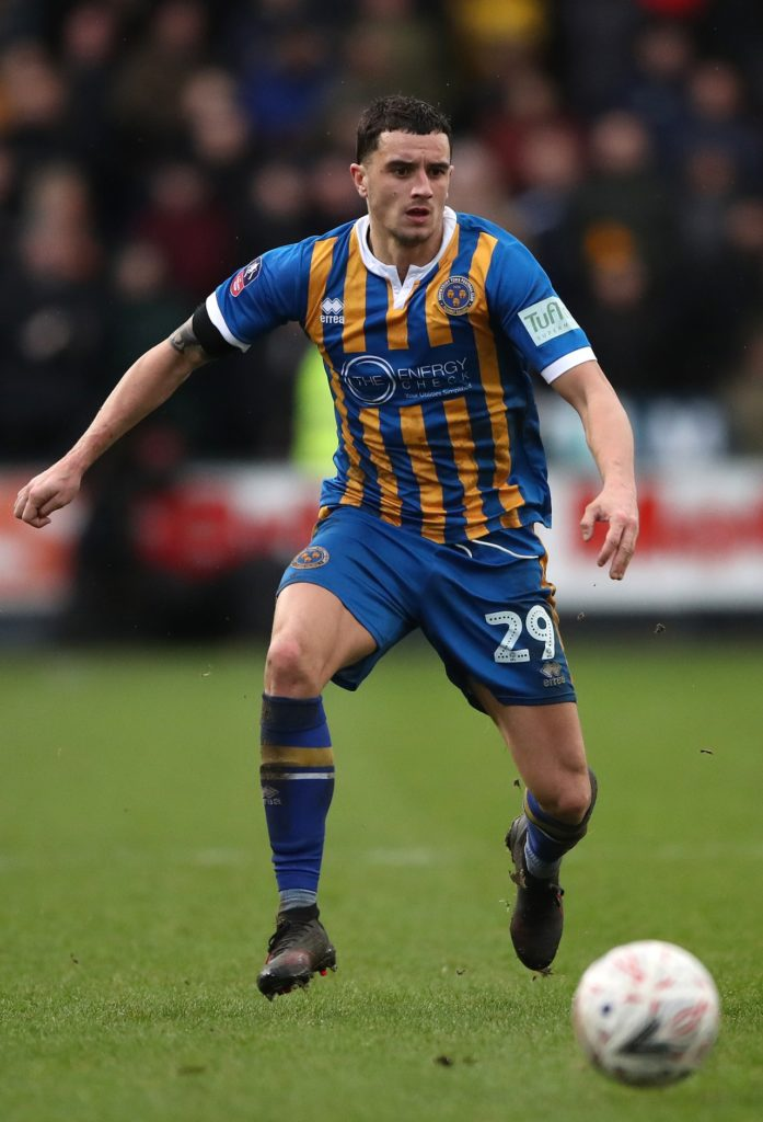 Shrewsbury could be without Ollie Norburn for their Sky Bet League One clash with relegation-threatened Scunthorpe on Saturday.