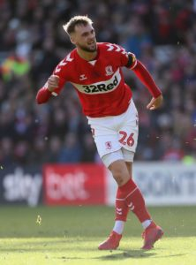Lewis Wing returned to Middlesbrough's starting line-up to help them earn a much-needed 2-1 Championship victory over Reading at the Riverside Stadium.