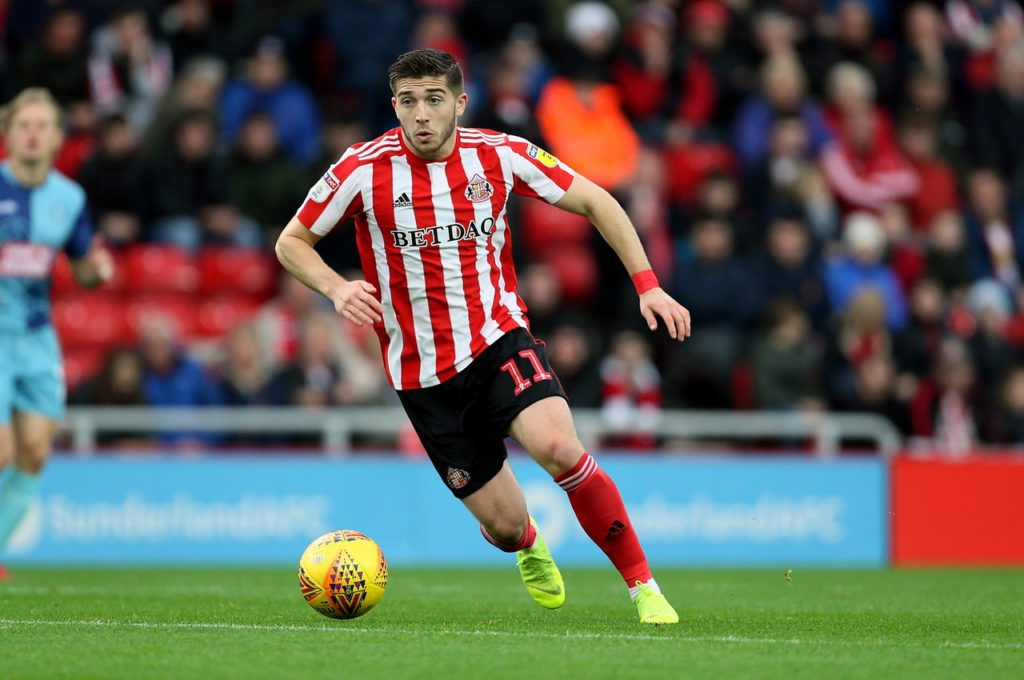Sunderland could be without Lynden Gooch when theSky Bet League One promotion chasers host Burton.