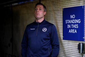 Millwall manager Neil Harris has defended Ben Marshall after his celebration at Elland Road saw Leeds fans throw missiles on the pitch.