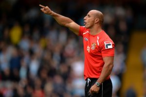 Dino Maamria pointed his finger firmly at the officials for denying Stevenage the chance to move into the League Two play-offs following a 1-1 with Exeter.