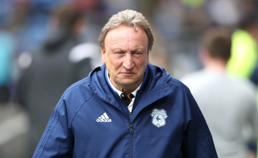 Neil Warnock says no talks have been held with Cardiff regarding his own future and transfer plans are also on hold.