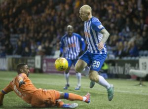 Kilmarnock winger Chris Burke has signed on for another season with the Rugby Park club.