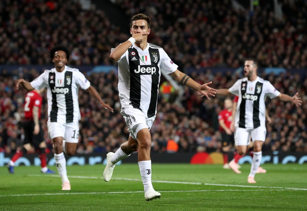 Paulo Dybala is facing a two-game absence for Juventus after picking up a muscle injury in the Champions League exit against Ajax.