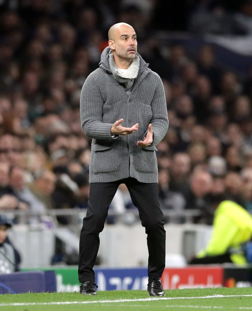 Pep Guardiola says he is convinced Manchester City will overcome a one-goal deficit and dump Spurs out of the Champions League.