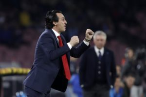 Unai Emery was proud of his Arsenal players after they reached the semi-finals of the Europa League with a victory away at Napoli.