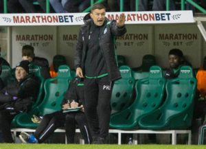 Hibernian head coach Paul Heckingbottom watched his side leapfrog Hearts with a 2-1 victory at Tynecastle - and immediately targeted a late charge for Europe.