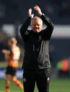 Manager Chris Wilder urged his players to keep calm and carry on after Sheffield United edged closer towards the Premier League with a 3-0 victory at Hull.