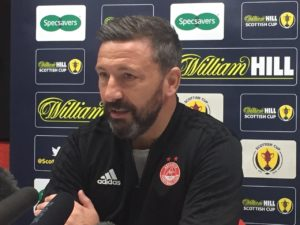 Derek McInnes will order Aberdeen to start fast and plant the seed of doubt in the minds of Celtic's treble treble chasers on Sunday.