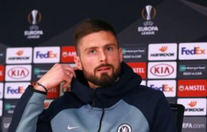 Chelsea boss Maurizio Sarri says the club have agreed to extend Olivier Giroud's contract by a further year.