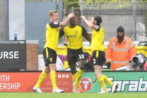 Luton's Sky Bet League One title bid suffered a setback as they fell to a 2-1 defeat at Burton whose goals came from Lucas Akins.