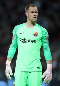 Barcelona goalkeeper Marc-Andre ter Stegen believes their one-goal advantage over Manchester United is 'not enough to defend'.