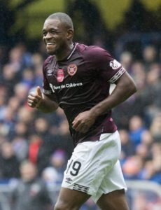 Hearts striker Uche Ikpeazu has had a yellow card for diving rescinded by the Scottish Football Association.