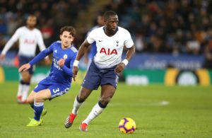 Tottenham midfielder Moussa Sissoko looks set to miss Saturday's trip to Manchester City due to injury.