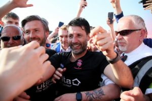 Danny Cowley was left overjoyed after Lincoln did enough to secure the League Two title by drawing 0-0 with Tranmere at Sincil Bank.