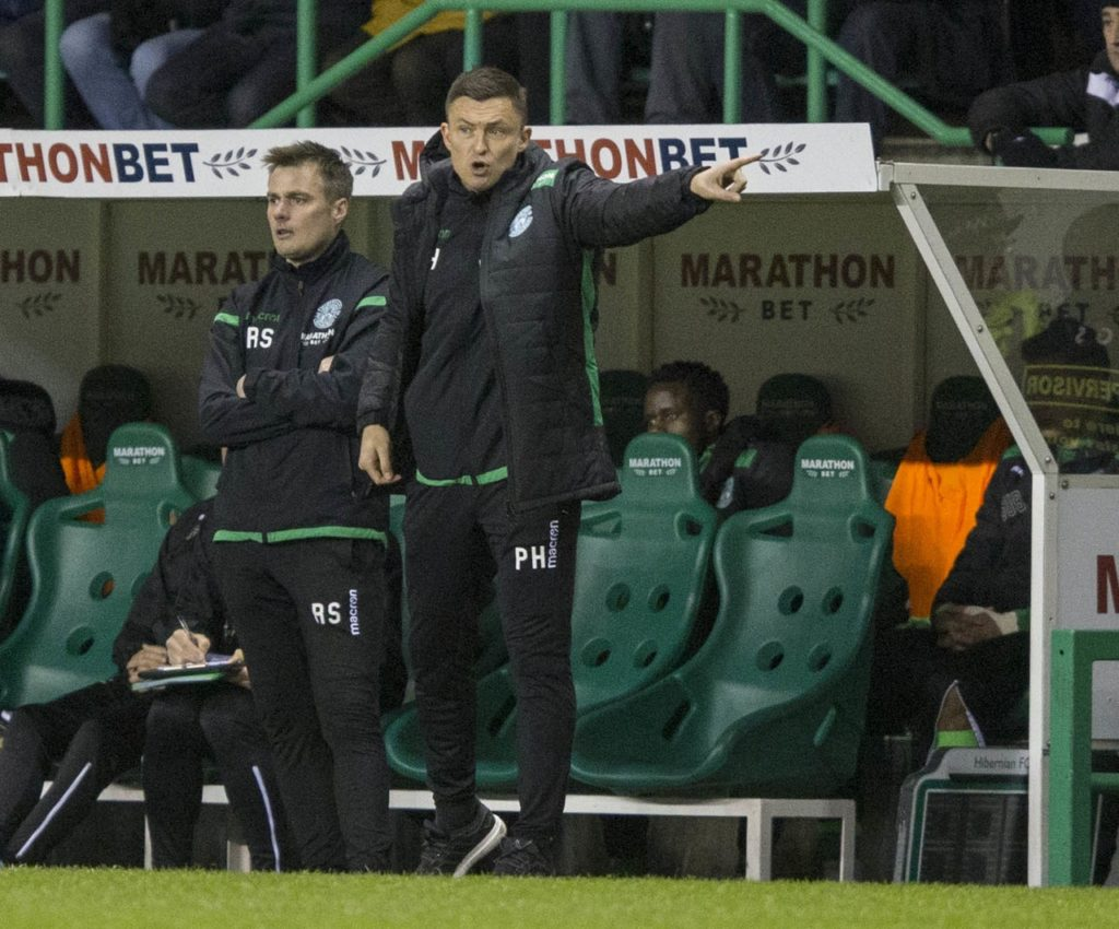 Hibernian head coach Paul Heckingbottom admits he is desperate to avoid the 'horrible' prospect of Celtic celebrating a title triumph at Easter Road.