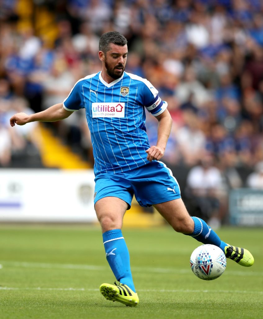 Notts County defender Richard Duffy is a major injury doubt for the visit of MK Dons.