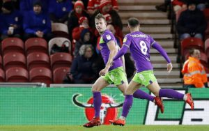 Bristol City moved into the Sky Bet Championship play-off places as Adam Webster's first-half header secured a 1-0 win at out-of-form Middlesbrough.