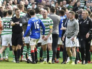 Connor Goldson insists the furore following Rangers' Old Firm melee with Celtic has been over-blown.