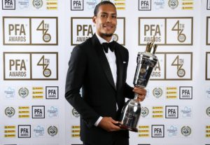 Liverpool centre-back Virgil Van Dijk has been named the Professional Footballers' Association's Players' Player of the Year for 2019.