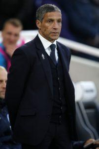 Brighton boss Chris Hughton was left feeling heartbroken after Tottenham snatched a 1-0 win at the death last night.