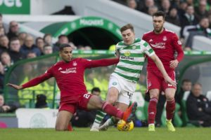 Aberdeen defender Max Lowe admits he had the frighteners put on him by James Forrest the last time he faced the Celtic winger at Hampden.