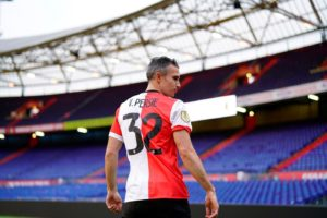 Feyenoord's Robin van Persie has turned down a farewell match from the club as he plans to retire.