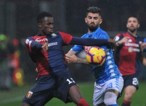 West Ham will make a fresh check on Genoa striker Christian Kouame again in Sunday's derby clash against Sampdoria.