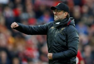 Liverpool manager Jurgen Klopp has set his sights on a club-record 97 points as the race for the Premier League title enters its final month.
