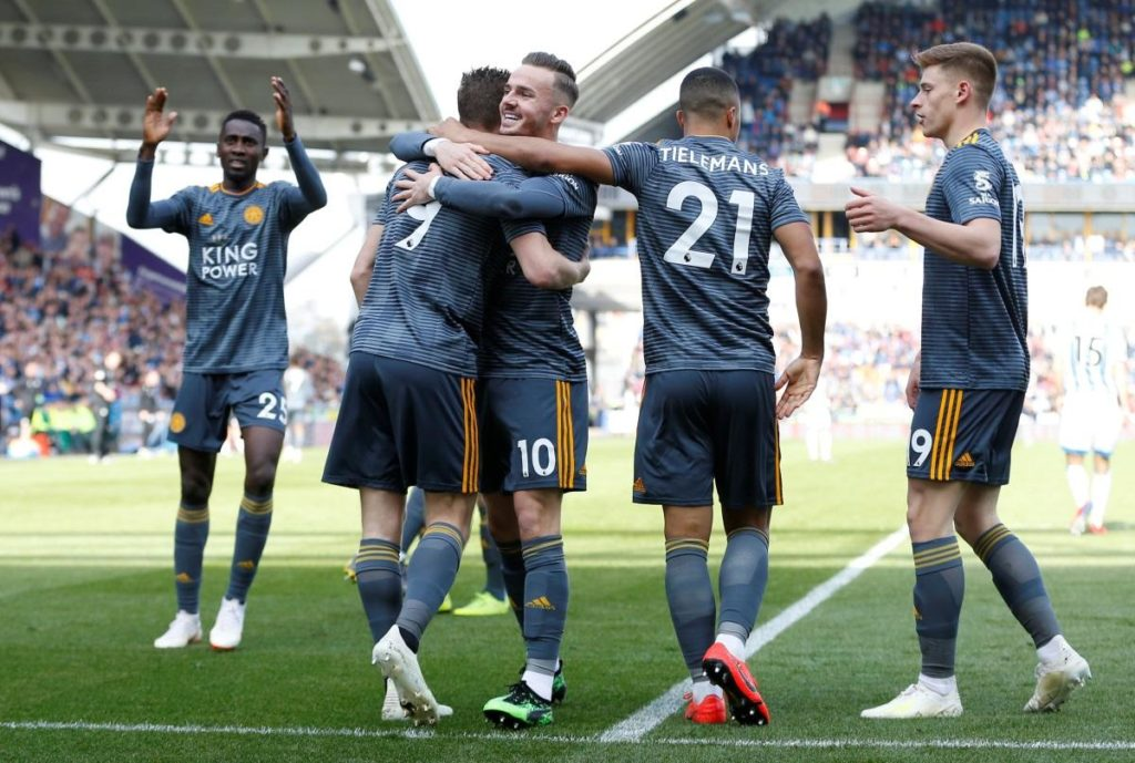 Leicester City made it four Premier League victories in a row by recording a comfortable 4-1 win at relegated Huddersfield Town.