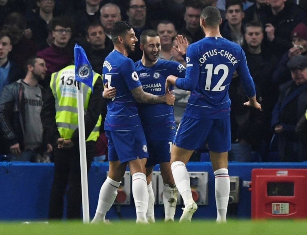 Eden Hazard's brace handed Chelsea a 2-0 win against West Ham to move them up to third spot in the Premier League table.