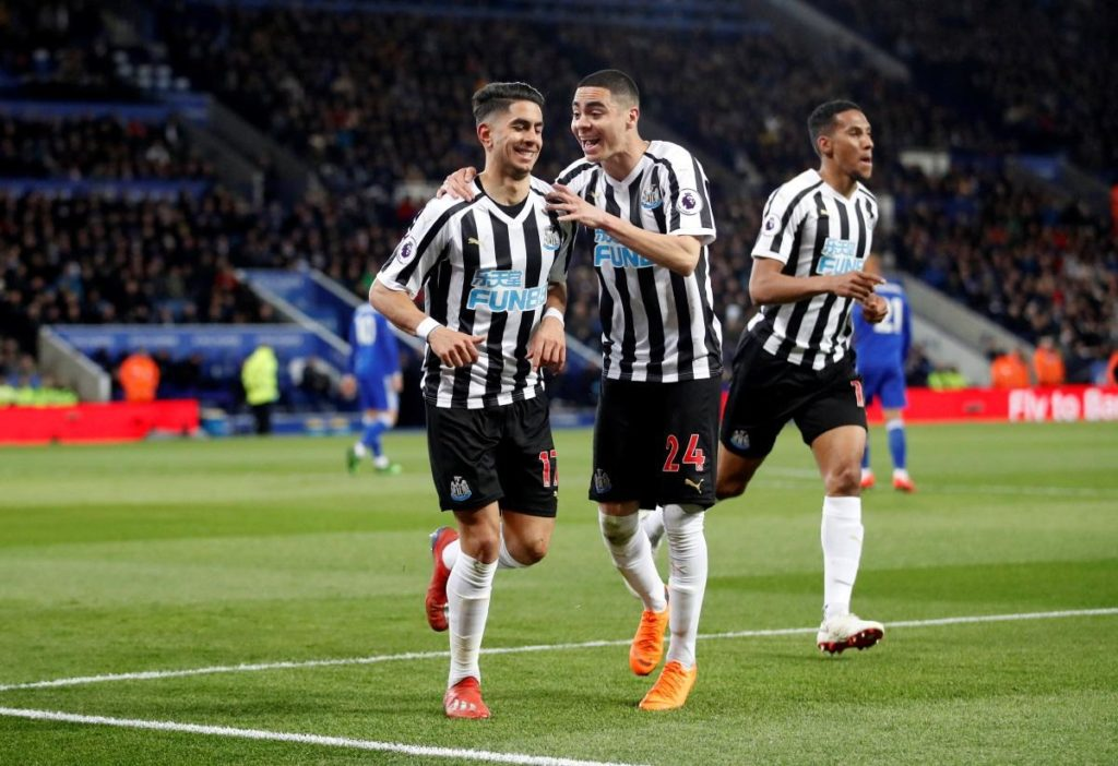 Ayoze Perez scored the only goal of the game as Newcastle took a big step towards Premier League survival with a 1-0 win at Leicester.