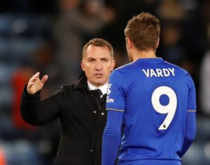 Leicester City boss Brendan Rodgers says he has learned what an intelligent footballer Jamie Vardy is since moving to the Foxes.