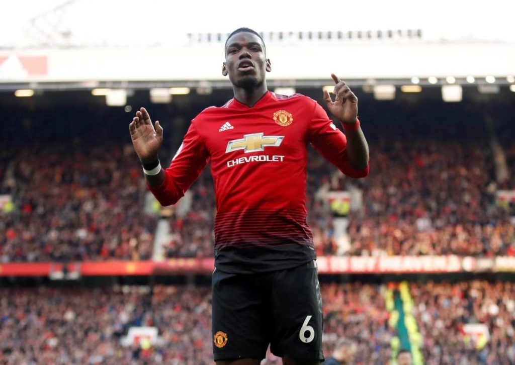 Paul Pogba twice scored from the penalty spot as Manchester United just about edged out West Ham 2-1 at Old Trafford.