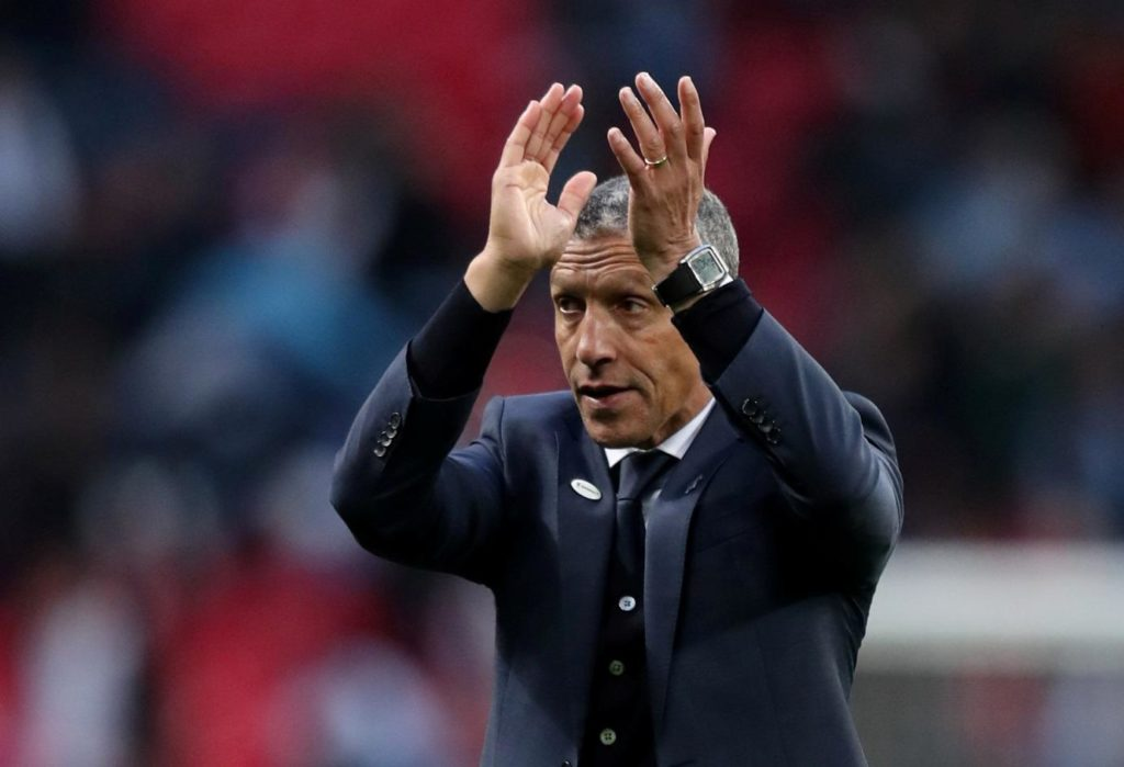 Chris Hughton has called on his Brighton squad to keep their composure when they go into Tuesday's crunch game with Cardiff.