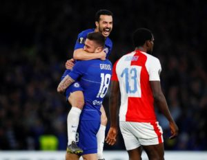 Chelsea defeated Slavia Prague 4-3 at Stamford Bridge to book their place in the Europa League semi-finals 5-3 on aggregate.