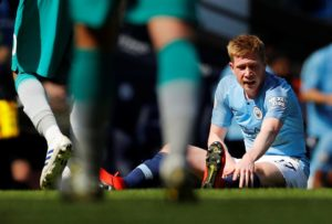 Pep Guardiola fears Kevin De Bruyne could miss the rest of the season after he was injured in Manchester City's 1-0 win over Tottenham.