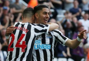 Ayoze Perez scored his first hat-trick for Newcastle as the Magpies confirmed their place in the Premier League for next season.